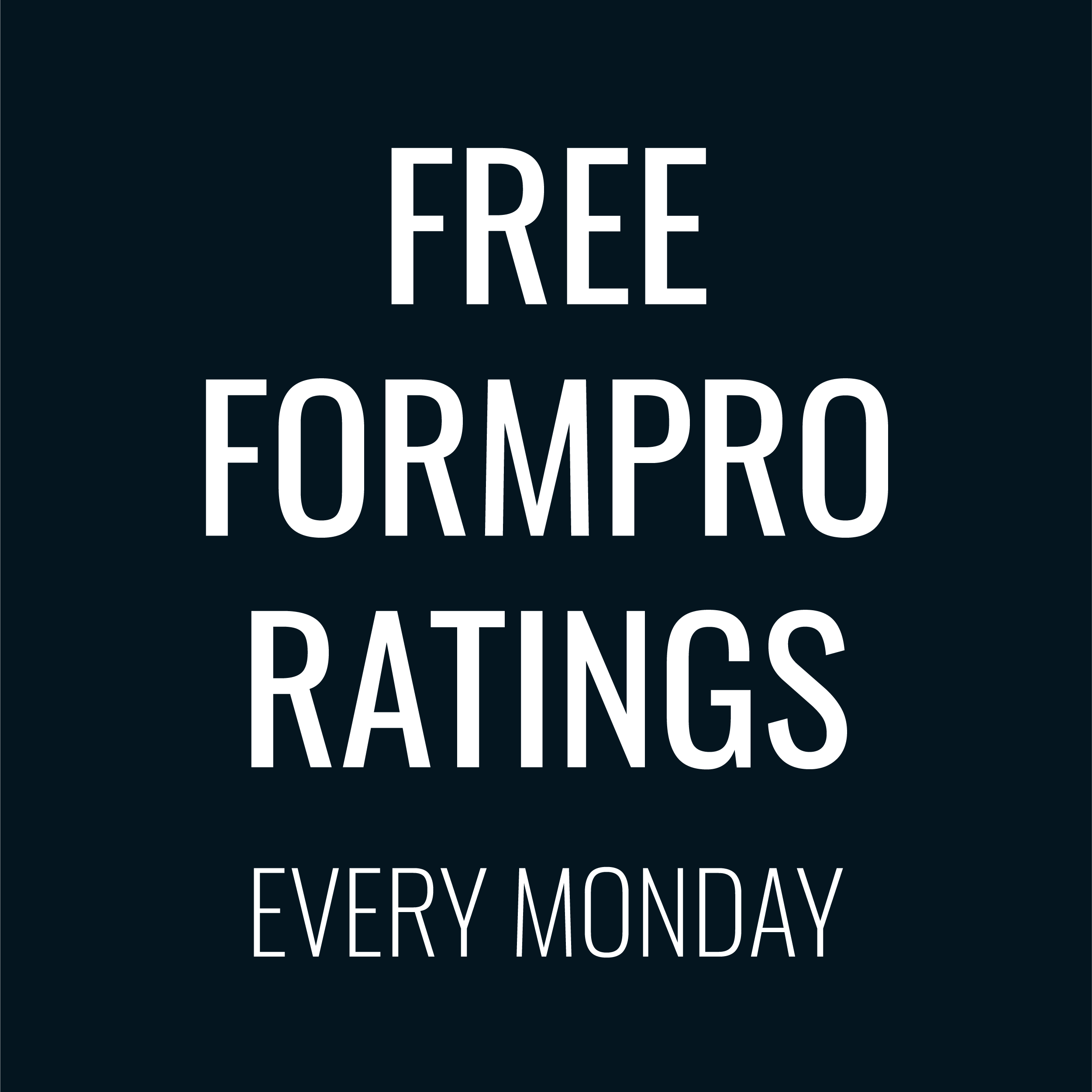 Free Greyhound Ratings Monday 18 February 2019