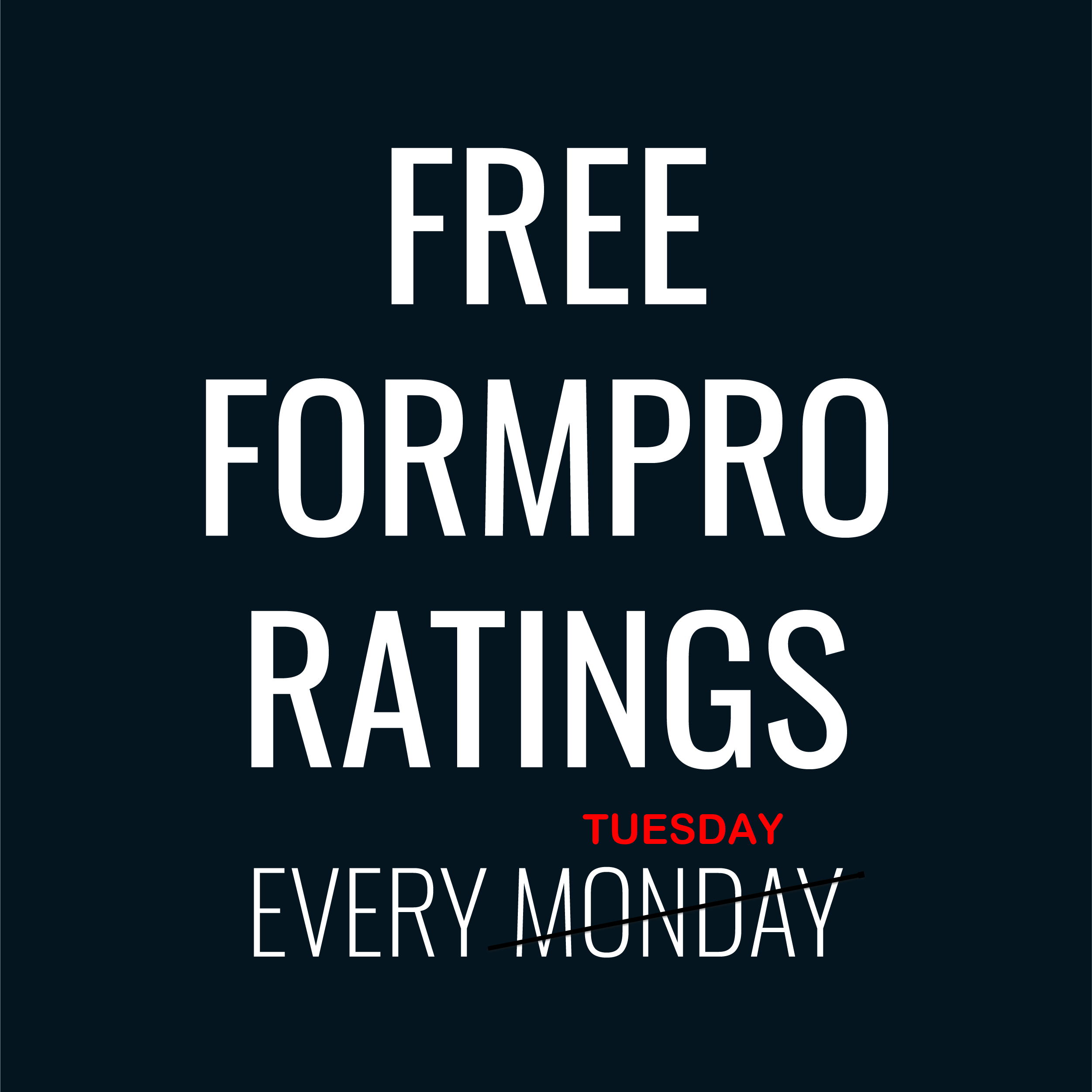 Free Greyhound Ratings Tuesday 23 February 2021